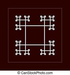 Geometric fractal vector frame