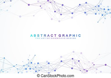 Geometric graphic background artificial intelligence....