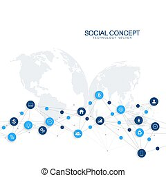 Geometric graphic background communication. Cloud computing and global network connections concept design. Big data complex with compounds. Digital data visualization. Scientific cybernetic vector.