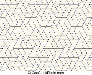 Geometric grid seamless pattern