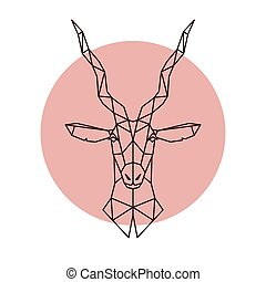 Geometric head of the Antelope.