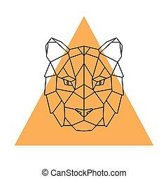 Geometric head tiger.