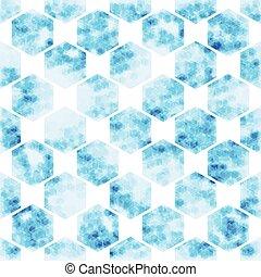 geometric Hexagon  abstract technology background, vector illustration