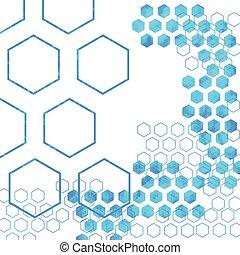 geometric Hexagon abstract vector background