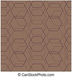 Geometric hexagon uneven seamless pattern. Design for print,...