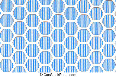 Geometric hexagonal abstract background. 3D illustration
