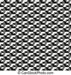 Geometric hexagonal pattern, gray color grid texture. Seamless hexagon background. Vector illustration.