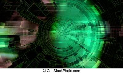 Geometric High Tech Background - Geometric High Tech Looping...