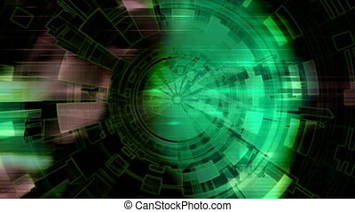 Geometric High Tech Background - Geometric High Tech Looping...
