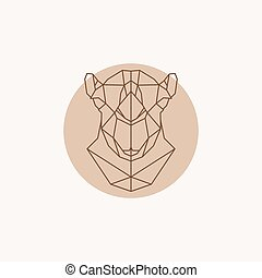 Geometric illustration of a head Camel.