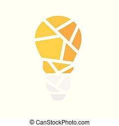 geometric light bulb icon- vector illustration