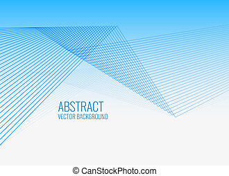 geometric lines blue abstract background