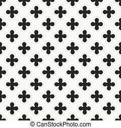 Geometric lmonochrome abstract hipster seamless pattern with cross, plus. Wrapping paper. Scrapbook paper. Tiling. Vector illustration. Background. Graphic crosses texture for your design, wallpaper.