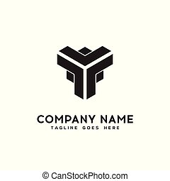 geometric logo design vector template