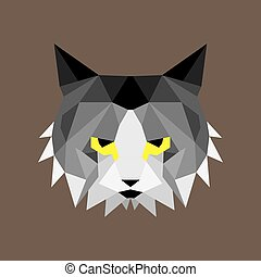 Geometric low poly cat