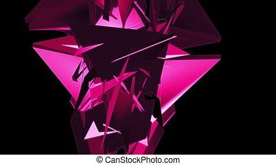 Geometric magenta abstract VJ looping CG