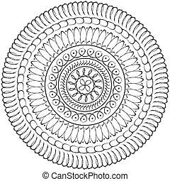 Geometric mandala drawing sacred circle - Floral mandala ...