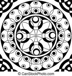 Geometric mandala drawing sacred circle - Floral mandala...