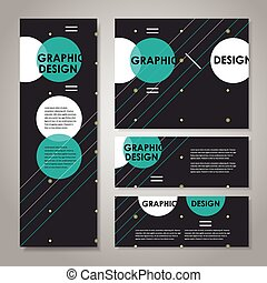 modern design template for banners set