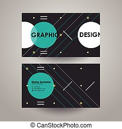 modern design template for business card