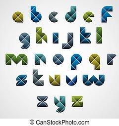 Geometric modern style letters