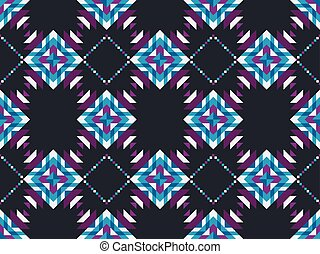 Geometric mosaic seamless pattern on a black background. Vector illustration