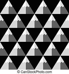 Geometric mountains pattern