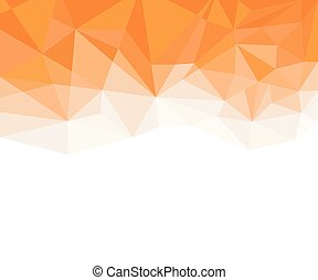 Geometric Orange and White Abstract Vector Background for Use in Design