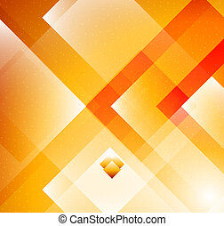 Geometric Orange background - Vector illustration. Design...