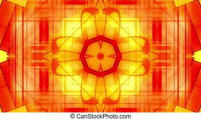 Geometric orange yellow VJ loop