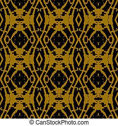 Geometric ornament in art deco style in gold