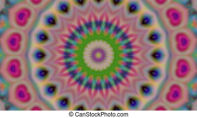 Geometric ornament, live wallpaper, kaleidoscopic iridescent...