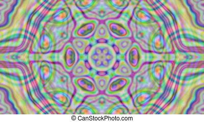 Geometric ornament, live wallpaper, kaleidoscopic iridescent...