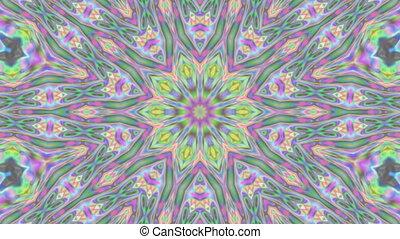 Geometric ornament, live wallpaper, kaleidoscopic slow movie...