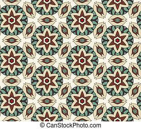 Geometric ornament seamless pattern