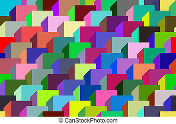 geometric ornament. - Seamless pattern vector illustration...