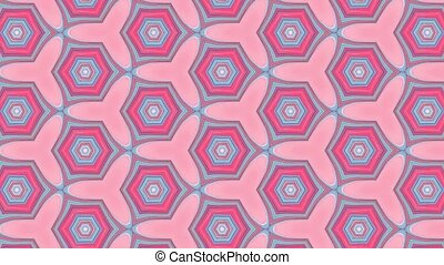 Geometric ornamental animation. Abstract background for...