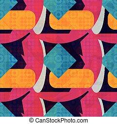 geometric példa, tervezés, -e, seamless, elvont