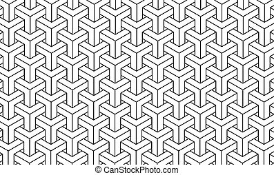 Geometric pattern background.