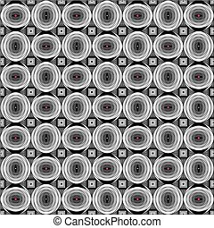 Geometric pattern - Dimensional pattern with circles,...