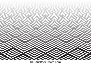 Geometric pattern. Diminishing perspective view. - Geometric...
