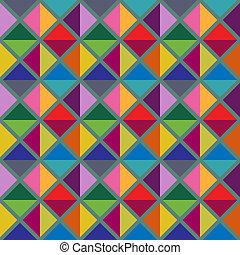 Geometric pattern - Seamless multicolored geometric pattern