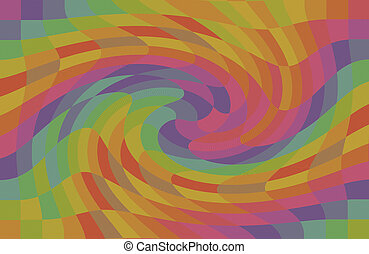 geometric pattern multicolored maelstrom rainbow color...