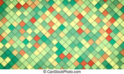 geometric pattern of colorful squares. computer generated...