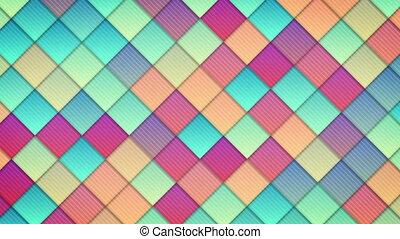 geometric pattern of colorful squares loop
