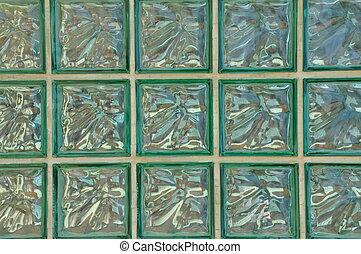 Geometric pattern of green glass