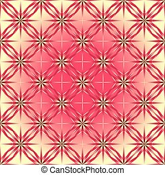 Geometric pattern of roses.