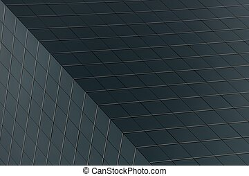 Geometric pattern of squares on gre