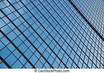 Geometric pattern of window frames