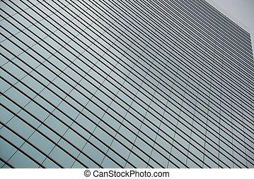 Geometric pattern of windows on gla